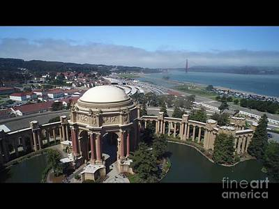 Photograph - Palace of Fine Art and San Francisco by Carmin Wong