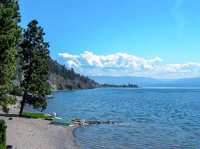 Photograph - Pristine Shores of Lake Okanagan by Cameron Conway