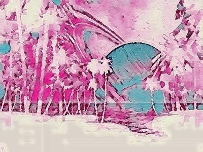 Digital Art - Saturn Going Down by Gail Daley