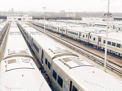 Photograph - Trains by Maxim Tzinman
