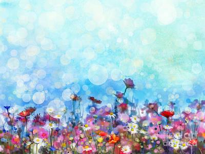 Daisy Field Digital Art