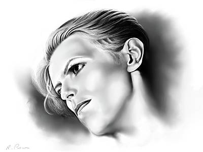 Digital Art - Bowie by Rachel Palmer