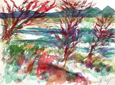 Painting - Lake Cherette  by Glen Neff