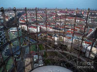Photograph - A Gasometer View of Berlin by Michael Hodgson