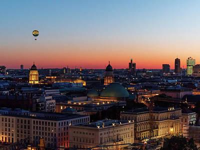Photograph - Berlin skyline at sunset by Michael Hodgson