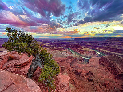 Photograph - Dead horse point sunset by Cameron Knudsen