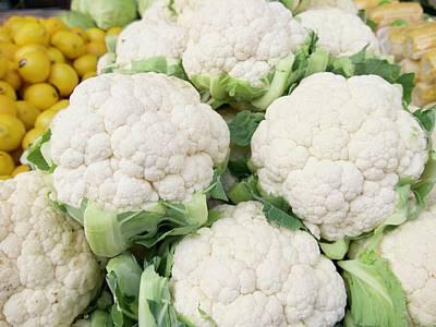 Photograph - Fresh Cauliflower In Market by Tamara Sushko