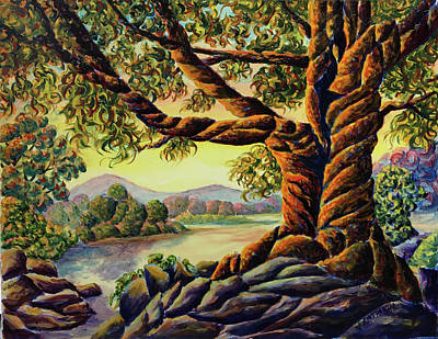 Painting - Guardian of the Mystic Mountain by John Entrekin