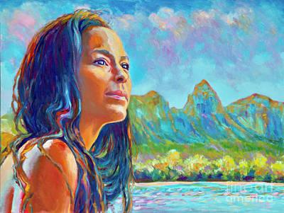 Painting - Hi'iaka at Kalalea by Isa Maria