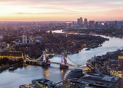 Photograph - London Skyline at sunrise by Travel and Destinations - By Mike Clegg