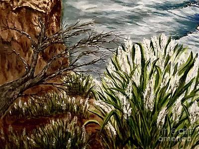 Painting - Cliffs of Big Sur by Michael Silbaugh