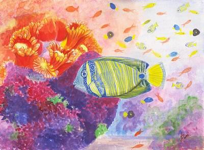 Painting - Sailfin Tang Fish  by Swati Singh