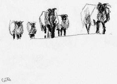 Drawing - Sheep on Achill Island by Catherine Considine