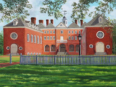 Painting - Sir Christopher Wren Building by Guy Crittenden