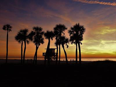 Photograph - Sunset Silhouettes by Robert Stanhope
