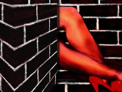Mixed Media - The Housewife Smokes by The Wall by Jessica Holter