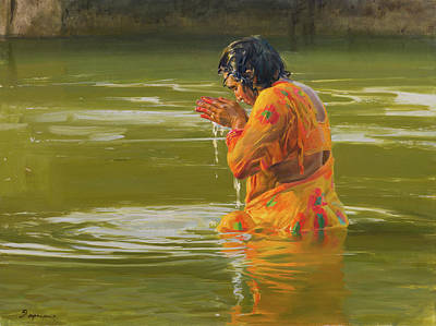 Painting - The prayer by Victoria Kharchenko