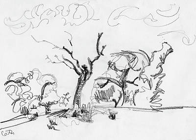 Drawing - The Snag on the Hill, Westport by Catherine Considine