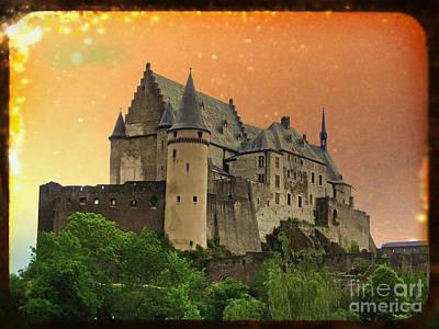 Photograph - Vianden Castle Viewfinder by Jurgen Huibers