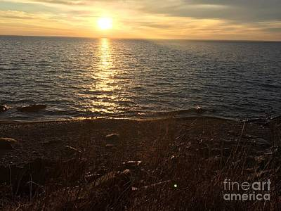 Photograph - View of Lake Superior Sunset by Daniel Derieg
