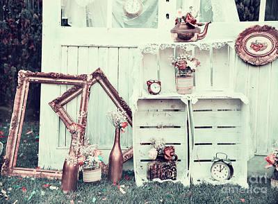 Photograph - Vintage outdoor wedding decoration. Retro filter by Jelena Jovanovic