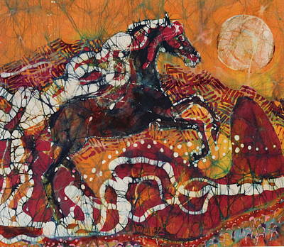 Tapestry - Textile - Bursting Into the Sky by Carol  Law Conklin