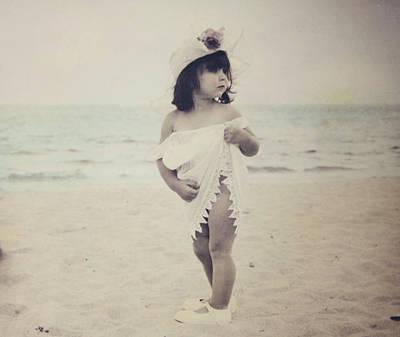 Little Girl On Beach Photographs