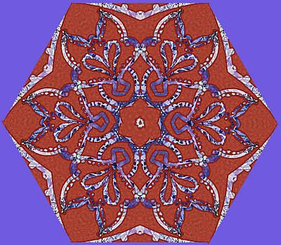 Digital Art - Amethyst Star Kaleidoscope by Sarajane Helm