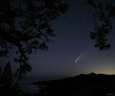 Photograph - Comet NEOWISE viewed from Prewitt Ridge, Big Sur coastline by Donald Quintana