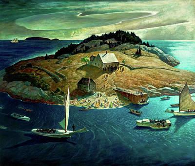 Maine Cottage Paintings