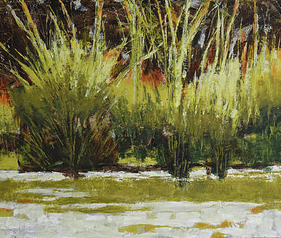 Painting - Pond Grasses by Melody Cleary