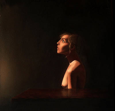 Painting - Girl at a Table by Andrew Sandberg
