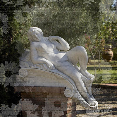 Photograph - Tuscan Garden by Alex Rowbotham