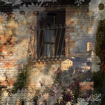 Photograph - Tuscan Window by Alex Rowbotham