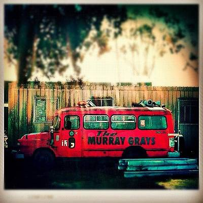 Vintage Fire Truck Art