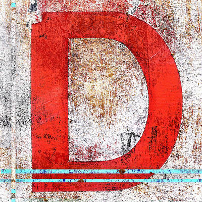 Textured Letters Wall Art