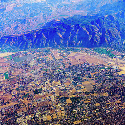 Photograph - Aerial USA. Los Angeles, California by Alex Potemkin