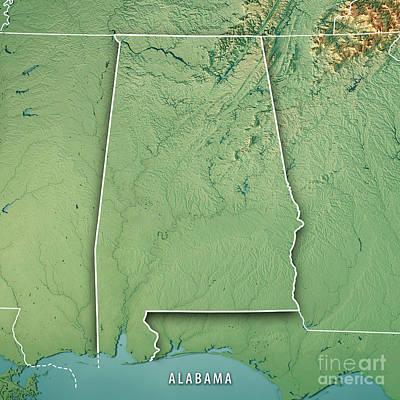 State Of Alabama Digital Art