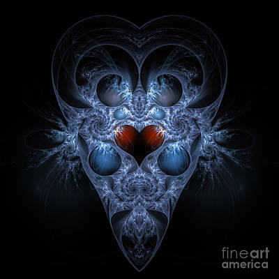 Digital Art - Alien With Heart by Sven Fauth