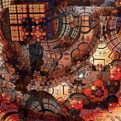 Digital Art - Fractal Startship by Sven Fauth