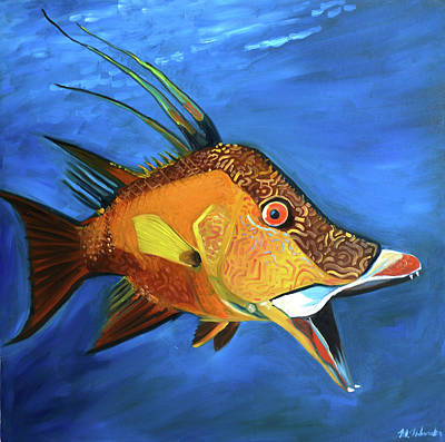 Painting - Hogfish by Monika Urbanska