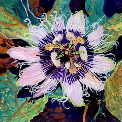 Passion Fruit Flower Original Artwork