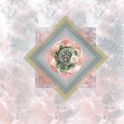 Digital Art - Peyote Sacred Geometry Mandala by Lori Menna