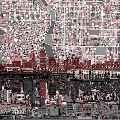 Portland Cityscape Art Prints