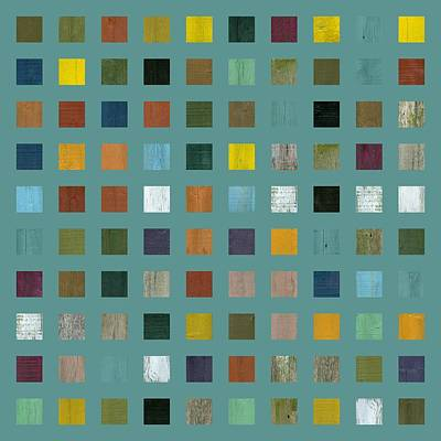 Abstract Square Patterns Wall Art