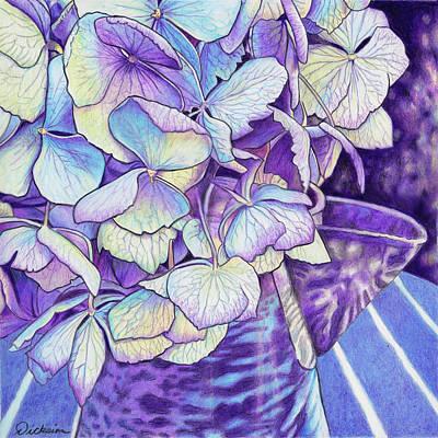 Painting - Vintage Blues by Rhonda Dicksion