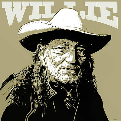 Willie Nelson Mixed Media