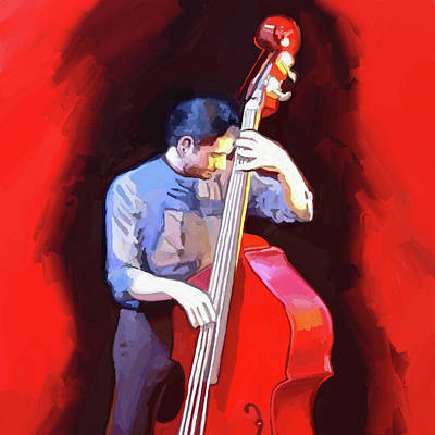 Bass Player Digital Art