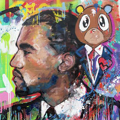 Rapper Kanye West Art Prints