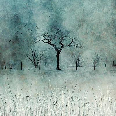 Digital Art - Lone Tree at Shelley by Glenys Garnett